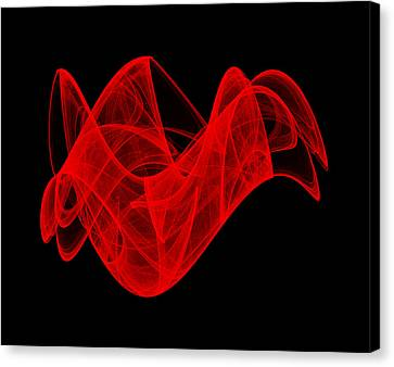 Canvas Print featuring the digital art Breaking Wave IIi by Robert Krawczyk