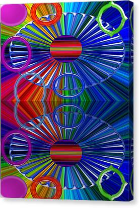 Digital Installation Art Canvas Print - Breaks by Tina M Wenger