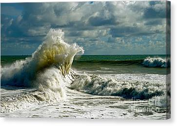 Breakwater Backwash Canvas Print