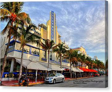 Breakwater Hotel Canvas Print by Sean Allen