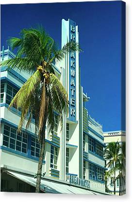 Breakwater Miami Beach Canvas Print