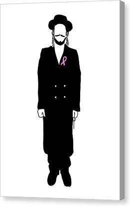 Breast Cancer Awareness Chassid Canvas Print by Anshie Kagan