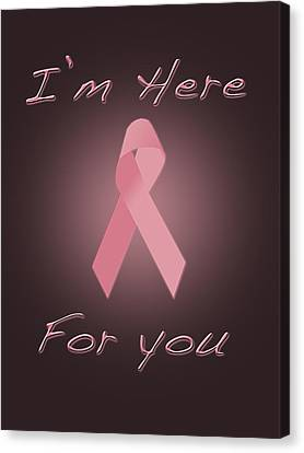 Breast Cancer Canvas Print by Jim  Hatch