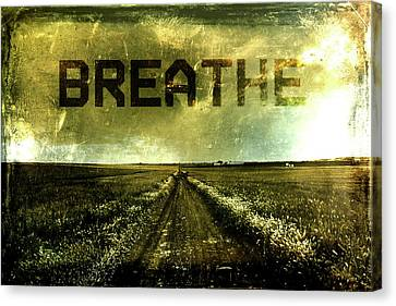 Breathe Canvas Print by Andrea Barbieri