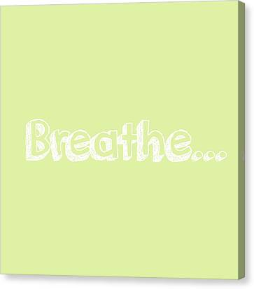 Breathe - Customizable Color Canvas Print