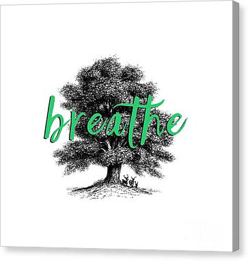 Breathe Shirt Canvas Print by Edward Fielding