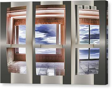 Canvas Print featuring the digital art Breathing Space - Silver, Optimized For Metallic Paper by Wendy J St Christopher