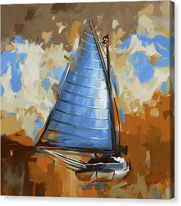 Breck Marshall Catboat 287 3 Canvas Print by Mawra Tahreem