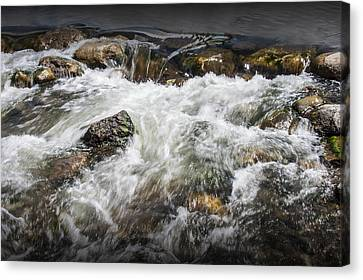 Breckenridge Colorado Water Rapids Canvas Print by Randall Nyhof