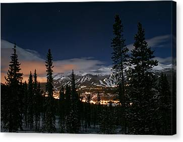 Breckenridge Moon Lit Night Canvas Print