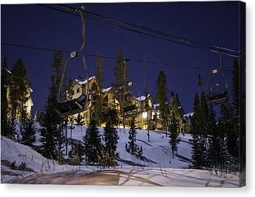 Breckenridge Snowflake Lift Canvas Print by Michael J Bauer