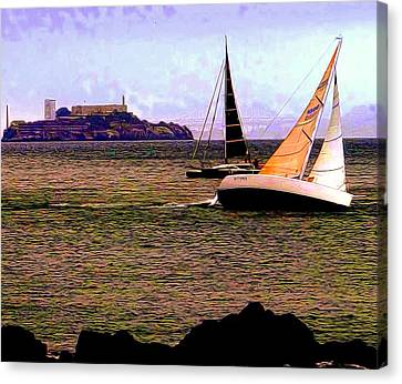 Breezin' On The Bay Canvas Print