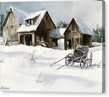Breezy Barns 'n Buggy Canvas Print by Art Scholz