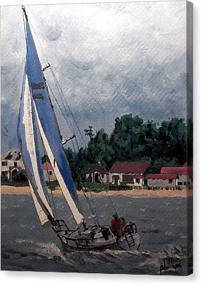 Breezy Day At Sea Canvas Print