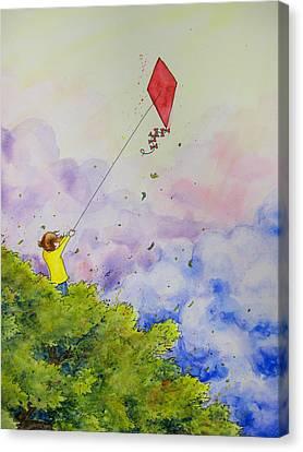 Breezy Day Happy Day Canvas Print by Jaymi Krystowiak