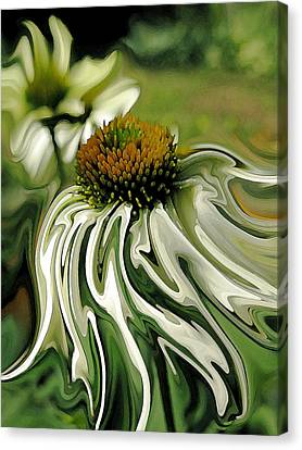 Abstracted Coneflowers Canvas Print - Breezy Feeling by Suzy Freeborg