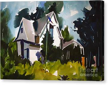 Celebrating Freedom Canvas Print - Breezy Memorial Day On Monroe Framed Matted Glassed by Charlie Spear