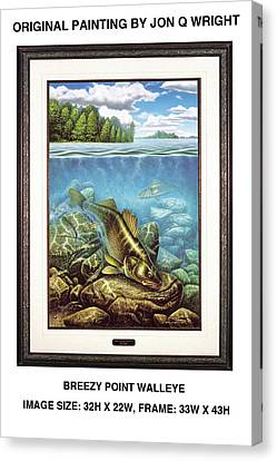 Breezy Point Walleye Original Canvas Print