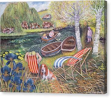 Breezy River Canvas Print