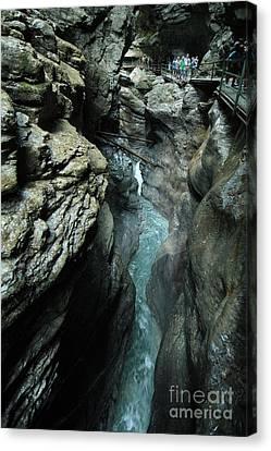 Breitach Gorge Oberstdorf 8 Canvas Print by Rudi Prott