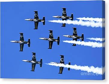 Breitling Air Display Team L-39 Albatross Canvas Print by Nir Ben-Yosef