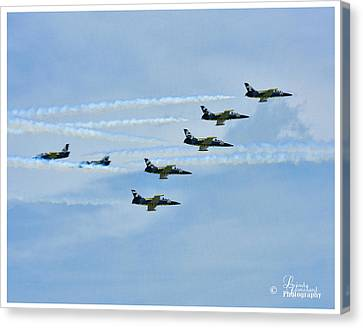 Canvas Print featuring the photograph Breitling Air Show by Linda Constant