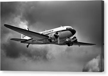 Breitling Dc-3 Canvas Print by Ian Merton
