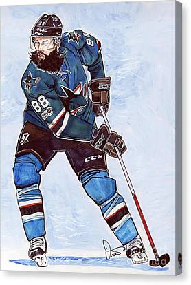 Brent Burns Canvas Print by Dave Olsen