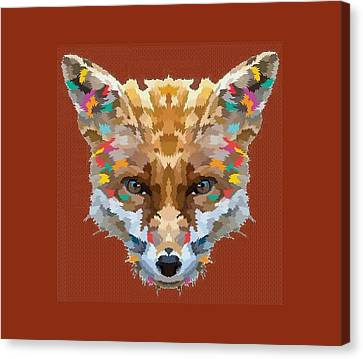 Brerr Fox T-shirt Canvas Print