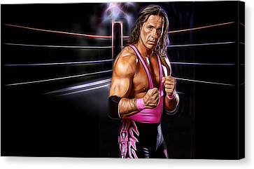Bret Hart Wrestling Collection Canvas Print by Marvin Blaine