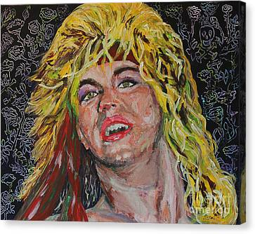 Bret Michaels 80s Hair Bands Poison Canvas Print by Robert Yaeger