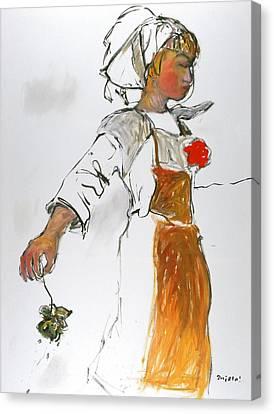 Breton Girl Canvas Print by Mykul Anjelo
