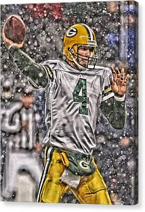Brett Favre Green Bay Packers 2 Canvas Print