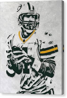 Brett Favre Green Bay Packers Pixel Art Canvas Print