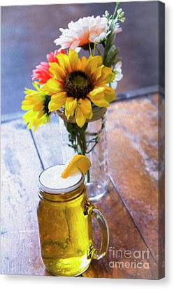 Frosty Mug Canvas Print - Brew And Blooms by Amy Sorvillo
