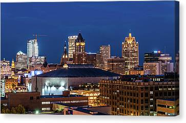 Brew City At Dusk Canvas Print