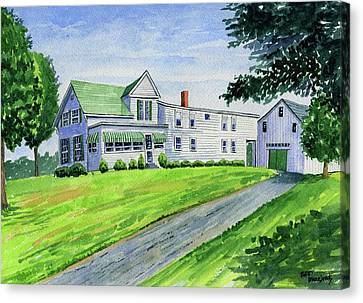 Brewer Family Farm, Augusta Maine Canvas Print by Jeff Blazejovsky