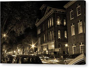 Canvas Print featuring the photograph Market Street by Robert Geary