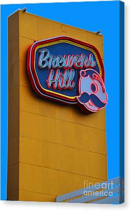 Brewers Hill Retro Canvas Print by Jost Houk
