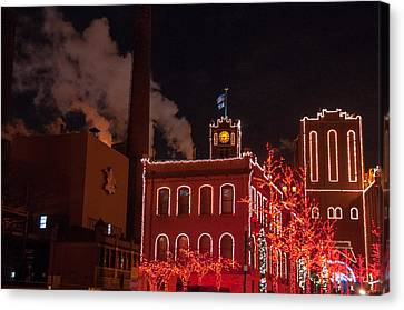 Brewery Lights Canvas Print by Steve Stuller