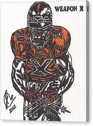 Brian Dawkins Canvas Print by Jeremiah Colley