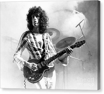 Queen Canvas Print - Brian May Of Queen 1975 by Chris Walter