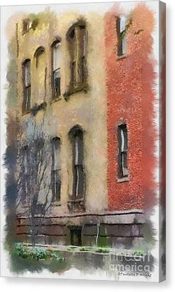 Brick Alley Canvas Print by Paulette B Wright