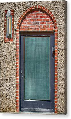 Asheville Canvas Print - Brick And Stucco With A Door by John Haldane