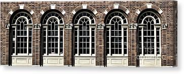 Canvas Print featuring the photograph Brick Arch Windows by Brad Allen Fine Art