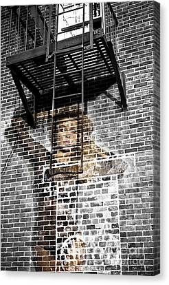 Brick Babe In The City Canvas Print by John Rizzuto