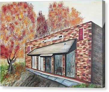 Brick Building Canvas Print by Suzanne  Marie Leclair