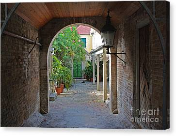 Brick Entryway Canvas Print