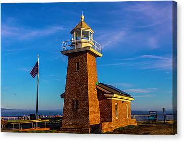 Brick Lighthouse At Point Pinos Canvas Print by Garry Gay