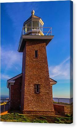 Brick Lighthouse Canvas Print by Garry Gay